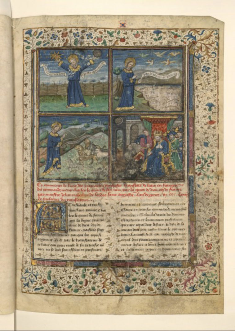 Vue du folio 1, le prologue du texte