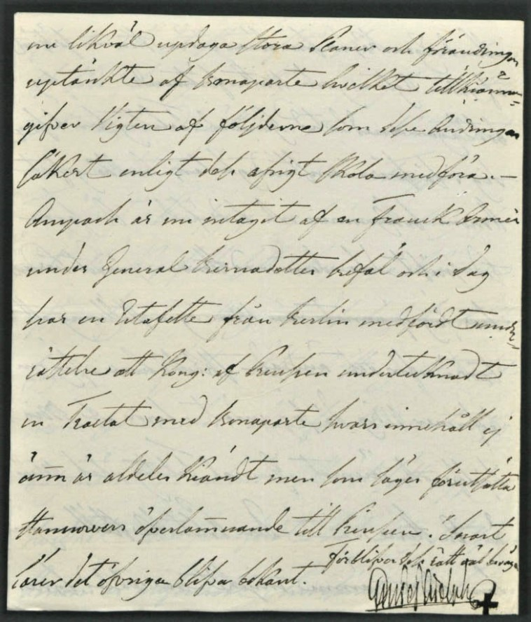 Letter from King Gustav IV Adolph, last Swedish king of Finland, to G. M. Armfelt, 17.3.1806. 